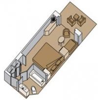 Καμπίνα με ιδιωτικό μπαλκόνι (Κατ. V,VA,VB,VC,VD,VE,VF,VH,VQ)