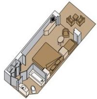 Καμπίνα με ιδιωτικό μπαλκόνι ( Κατ. V,VA,VB,VC,VD,VE,VF,VH)