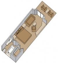 Καμπίνα με ιδιωτικό μπαλκόνι (Κατ. A,AA,AB,BC)