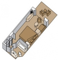 Καμπίνα με ιδιωτικό μπαλκόνι (A, AA, B, BB, BC)