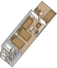 Καμπίνα με ιδιωτικό μπαλκόνι (Κατ. A,B,BA,BB,BC)