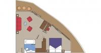 Αναλυτική περιγραφή καμπινών MSC Yacht Club Royal Suite