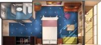 Καμπίνα με ιδιωτικό μπαλκόνι