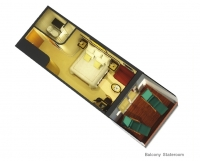 Καμπίνα με ιδιωτικό μπαλκόνι (ΒΑ, ΒC, CA)
