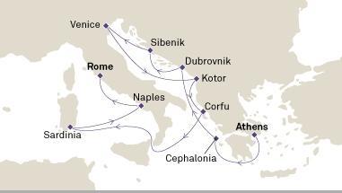 Ελληνικά Νησιά & Ιταλία  (Cun10)
