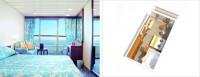 Καμπίνα με ιδιωτικό μπαλκόνι με περιορισμένη ορατότητα
