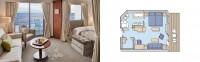 Penthouse Suite με Βεράντα - Κατηγορία PS