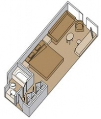 Καμπίνα με ιδιωτικό μπαλκόνι (Kατ. A,B,BB,BC,BQ)