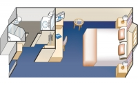 Εξωτερική Καμπίνα με περιορισμένη ορατότητα