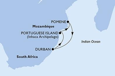 4ήμερη Κρουαζιέρα στη Νότια Αφρική (18MSC64)