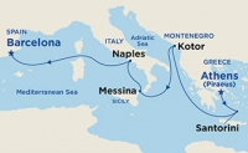 Aδριατική & Μεσόγειος από Πειραιά (19Pri2b)