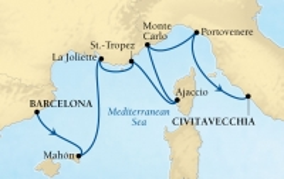 Από Βαρκελώνη στη Ρώμη - Δυτική Μεσόγειος (17Sea11)