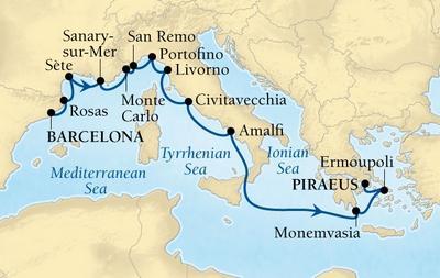 Από Βαρκελώνη στον Πειραιά - Δυτική Μεσόγειος & Ελληνικά Νησιά (17Sea13)