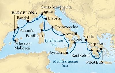 Από Πειραιά στη Βαρκελώνη - Δυτική Μεσόγειος & Ελληνικά Νησιά (17Sea1)