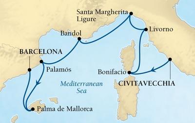 Από Ρώμη στη Βαρκελώνη - Δυτική Μεσόγειος (17Sea10)