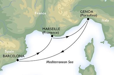 Απόδραση στη Μεσόγειο από Γένοβα (MSC7b)