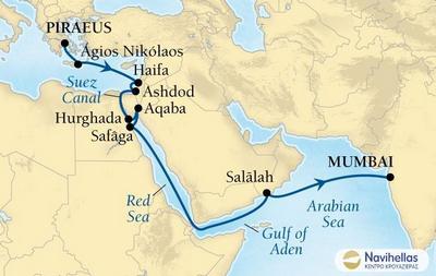 Athens to Mumbai (*Sea2013)