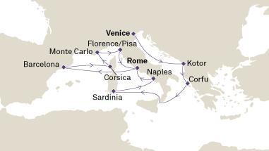 Δαλματικές Ακτές, Ελλάδα, Ιταλία & Ισπανία (17Cun32)