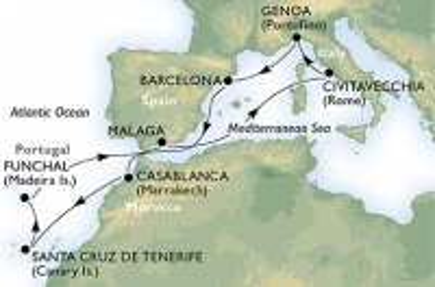 Κανάρια Νησιά & Μαρόκο - από Γένοβα (MS22b)