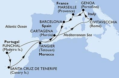 Δυτική Μεσόγειος & Κανάρια Νησιά (18MSC74)