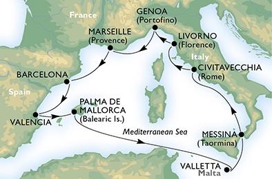 Δυτική Μεσόγειος, Βαλεαρίδες & Σικελία (19MSC184)