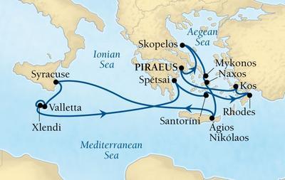 Ειδυλλιακή Μεσόγειος - Από Πειραιά (18Sea4)