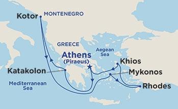 Ελληνικά Νησιά & Kότορ (17Pri25)