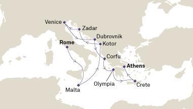 Ιταλία, Δαλματικές Ακτές & Αιγαίο (Cun23)