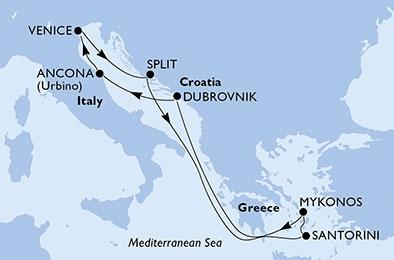 Αδριατική & Νησιά του Αιγαίου - Από Ανκόνα (19MSC193b)
