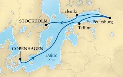 Από Κοπεγχάγη στη Στοκχόλμη με 3ήμερηΠαραμονή στην Αγ. Πετρούπολη (16Sea4)