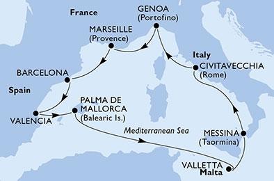Κρουαζιέρες στη Δυτική Μεσόγειο (18MSC77)