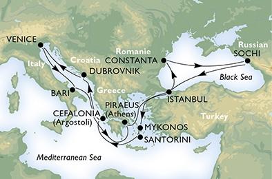 Από Βενετία στην Κωνσταντινούπολη & στη Μαύρη Θάλασσα (*MSC31)