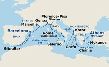 Μεσογειακή Ανακάλυψη - Από Βαρκελώνη Προς Πειραιά (18Pri28)