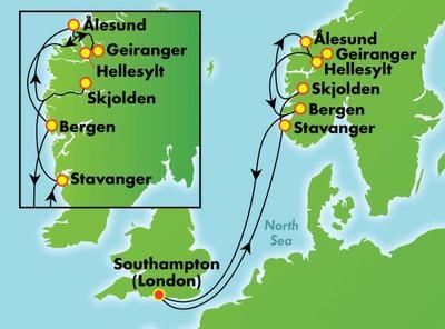 Νορβηγικά Φιορδ από Σαουθάμπτον (NCL13)