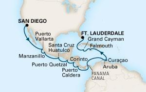 Σαν Ντιέγκο - Μαϊάμι μέσω Καναλιού του Παναμά (16HAL62)