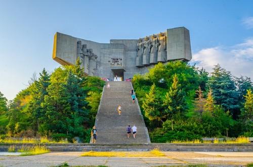 Βάρνα: Μνημείο βουλγαρικής σοβιετικής φιλίας στη Βάρνα.  Βουλγαρίας.