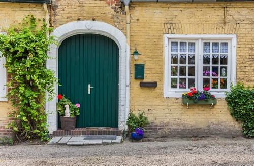Φίλιπσμπουργκ: Πράσινη πόρτα στο Φίλιπσμπουργκ. Άγιος Μαρτίνος. Γαλλία.