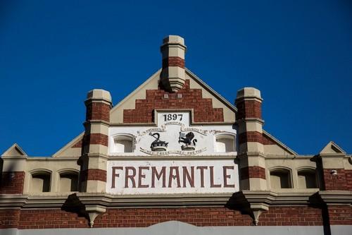Φρίμαντλ (Περθ): Παλαιό Κτίριο στην πόλη Φρίμαντλ. Αυστραλία.
