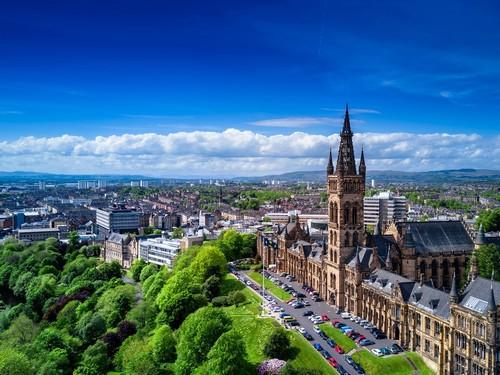 Γλασκώβη - Γκρήνοκ: Αεροφωτογραφία της Γλασκώβης. Σκωτία. Ηνωμένο Βασίλειο