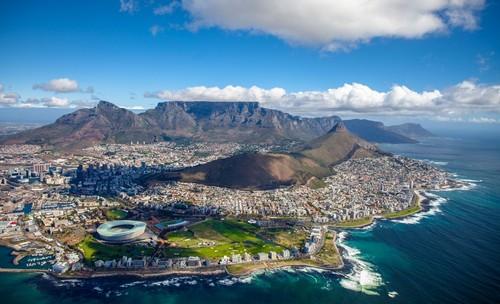Κέϊπ Τάουν: Εντυπωσιακή αεροφωτογραφία του Κέϊπ Τάουν. Νότιος Αφρική.