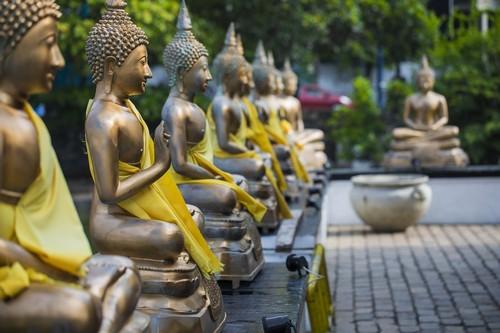 Κολόμπο: Φωτογραφίες αγαλμάτων του Βούδα. Κολόμπο. Σρι Λάνκα.