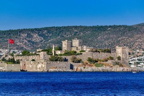 Μπόντρουμ (Αρχ. Αλικαρνασσός): Η θέα του κάστρου στο Μπόντρουμ. Τουρκία.