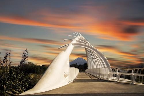 Νέο Πλύμουθ: Η γέφυρα Te Rewa Rewa, Νέο Πλύμουθ. Νέα Ζηλανδία.