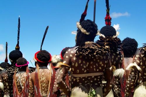 Ντάϊνι: Άνθρωποι- πολεμιστές Dani κατά τη διάρκεια του φεστιβάλ φυλών στην κοιλάδα Wamena - Baliem. Ντάϊνι. Παπούα Νέα Γουϊνέα. Ινδονησία.
