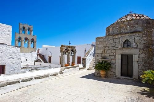 Πάτμος: Το μοναστήρι του Αγίου Ιωάννη του Θεολόγου. Πάτμος. Ελλάδα.
