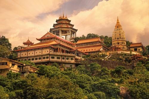 Πενάνγκ: Βουδιστικός Ναός στο Πενάνγκ. Μαλαισία.