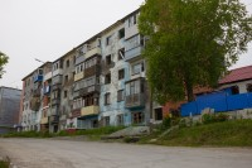 Πετροπαβλόσκ: Εγκαταλειμένο Σοβιετικό Χρουστσόφ στο Πετροπαβλόσκ. Ρωσία.