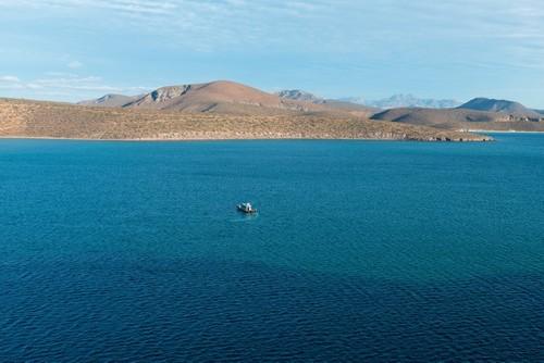 Πιτσιλίνγκουε: Bάρκες στη θάλασσα Koρτέζ. Λιμάνι Πιτσιλίνγκουε. Baja Καλιφόρνια. Μεξικό.
