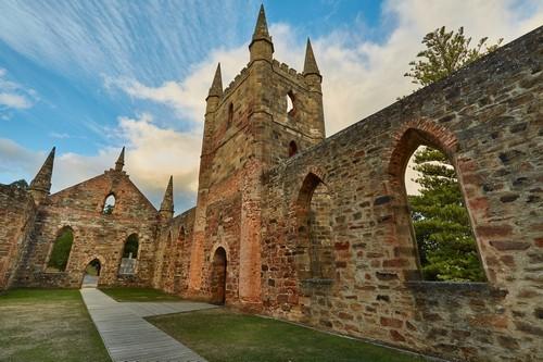 Πόρτ Άρθουρ, Τασμανία: Ιστορικές φυλακές καταδίκων. Η πόλη είναι ένα υπαίθριο μουσείο. Πόρτ Άρθουρ. Τασμανία. Αυστραλία.