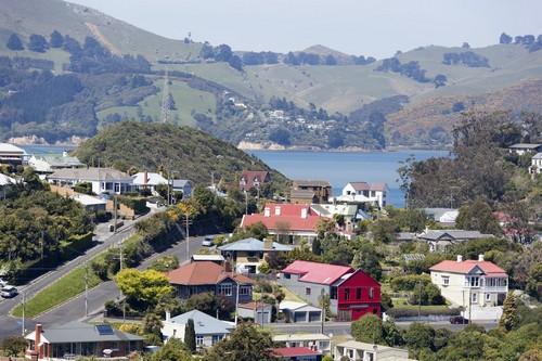 Πορτ Τσάλμερς - Ντούντιν : Πανοραμική Θέα του Πορτ Τσάλμερς προάστειο του Dunedin. Νέα Ζηλανδία.